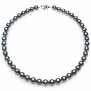 8.1mm x 9.9mm Blue Tahitian Pearl Necklace