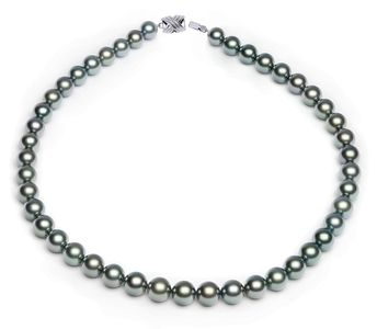 8.2 x 9.9mm Blue Tahitian Pearl Necklace