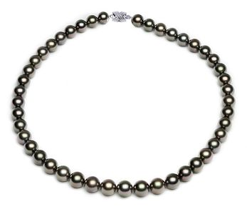 8.2 x 9.9mm Peacock Tahitian pearl Necklace