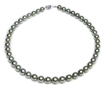 8 x 10.5mm Green Tahitian Pearl Necklace