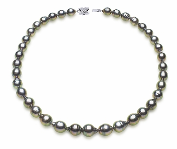 Ringed or Circle Tahitian Pearl Necklace