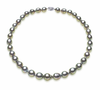 8 x 10mm Tahitian South Sea Peacock Baroque Pearl Necklace