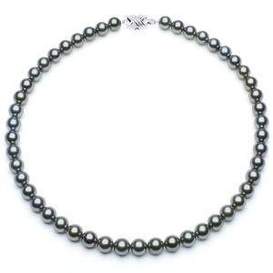 8 x 8.9mm Blue Tahitian Pearl Necklace