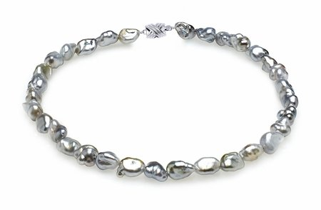8mm Grey Keshi Tahitian Pearl Necklace