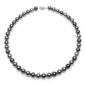 9.1 x 10.3mm Multicolor Tahitian Pearl Necklace