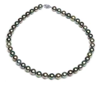 9.1 x 9.8mm Multicolor Tahitian Pearl Necklace