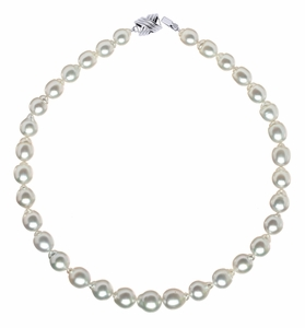 9.2 x 12.4mm Baroque South Sea Pearl Necklace