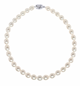 9.2 x 11mm Oval South Sea Pearl Necklace