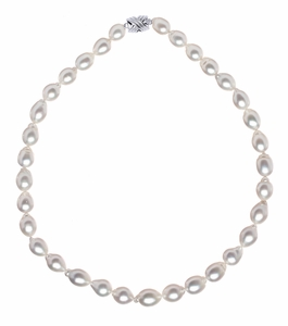 9 x 10.5mm Baroque South Sea Pearl Necklace