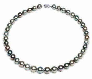 9 x 11.3mm Multicolor Tahitian Pearl Necklace