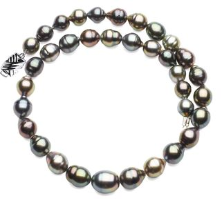 9 x 11mm Tahitian Pearl Necklace Serial Number s10-multi-color-b22