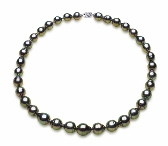 9 x 11mm Tahitian South Sea Peacock Baroque Pearl Necklace