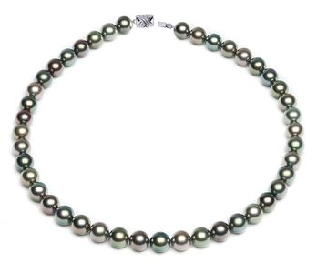 9 x 9.8mm Multicolor Tahitian Pearl Necklace