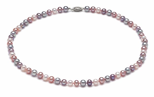 AAA  5.5 x 6mm Multicolor Pearl Necklace