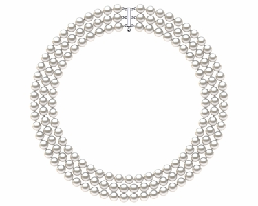 Akoya Pearl Necklace Triple Strand