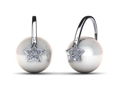Arc De Triomphe South Sea Shooting Star Pearl Earring