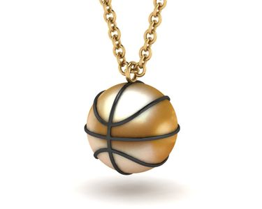 Basketball Pearl Necklace