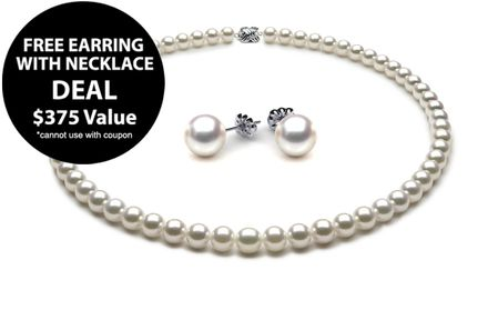 Deal - Free Akoya Earring with 6.5 x 7mm Akoya Pearl Necklace