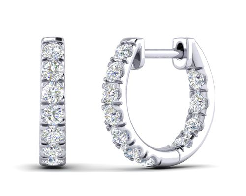 12mm Diamond Huggie