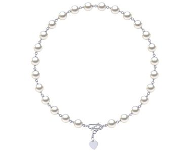 Freshwater Pearl Timeless Heart Necklace