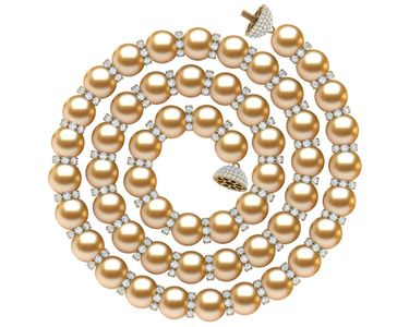 Golden South Sea Pearl Rondell Necklace | Every Other Pearl