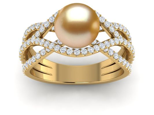 Golden Pearl Rings