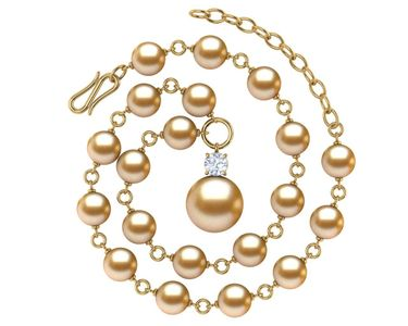 Golden Pearl Timeless Necklace