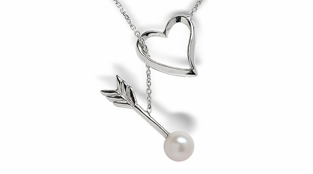 Heart & Arrow Freshwater Pearl Pendant