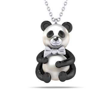 Panda Bear Hug Necklace