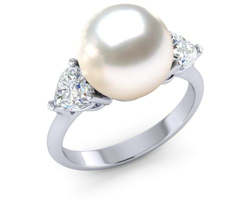 Pearl Heart Ring