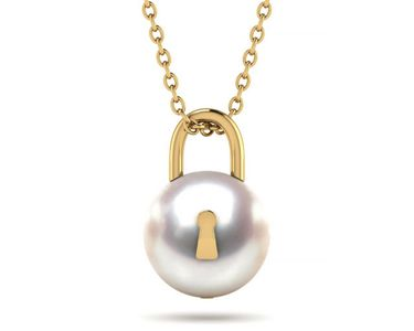 Pearl Lock Emoji Necklace