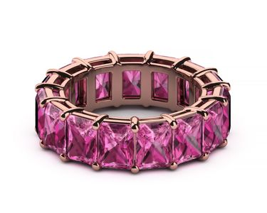 Radiant Pink Sapphire Eternity Band