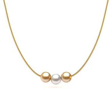Golden South Sea Pearl Creamsicle Necklace