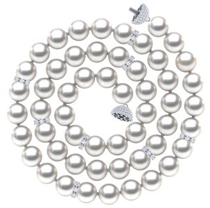 South Sea Pearl and Diamond Rondel Necklace