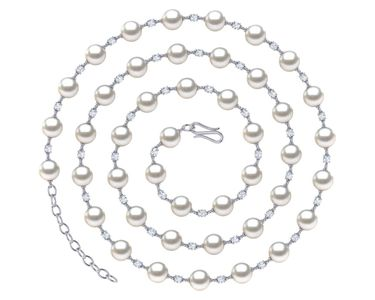 South Sea Pearl and Diamond Timeless Necklace 32 Inches