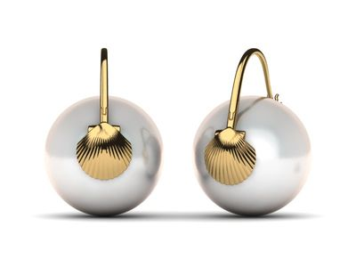 South Sea Pearl Arc De Triomphe Shell Earring
