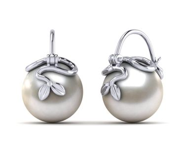 South Sea Pearl Arc De Triomphe Vine Earring
