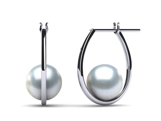 South Sea Pearl Classic Morning Dew Hoop Earring