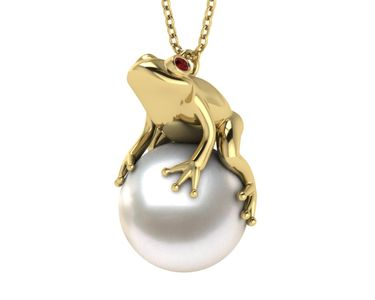 South Sea Pearl Frog Necklace
