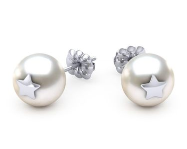 South Sea Pearl Star Studded Earring
