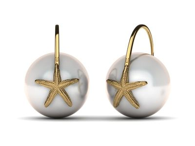 South Sea Star Fish Earring