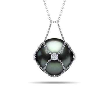 Tahitian Pearl Keepsake Gemstone Necklace