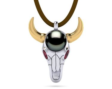 Tahitian Pearl Longhorn Necklace