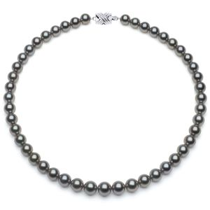 8 x 9.9mm Grey Tahitian Necklace