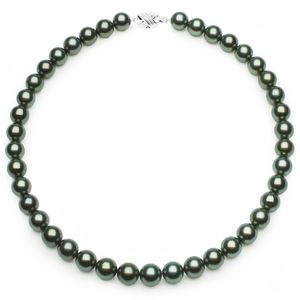10 x 10.9mm Green Tahitian Pearl Necklace