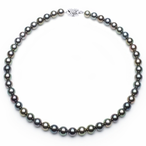 8 x 9.3mm Multicolor Tahitian Pearl Necklace
