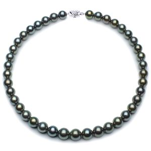 10 x 11.8mm Blue Tahitian Pearl Necklace