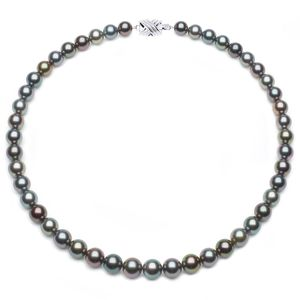 8 x 9.9mm Multicolor Tahitian Pearl Necklace