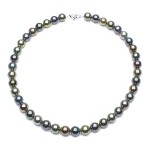 10.1 x 11.8mm Multicolor Tahitian Pearl Necklace