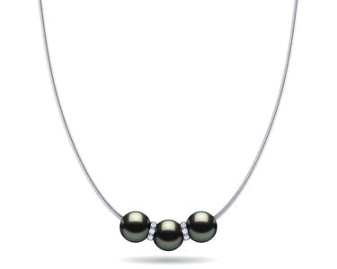 Tahitian Pearl Rondelle Pearl Necklace